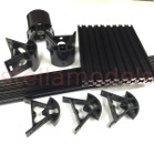 3DP-FR001 Mini Kossel 3D Printer Frame Set - Black Alu 2020 Extrusion, moulded ABS Corners