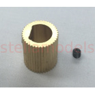 3DP-P009A Brass Extruder Spur Gear  ID:8mm (D Shape) OD:12mm for Mini Kossel 3D Printer Extruder