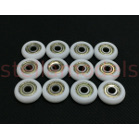 3DP-P021A 21.5mm Dia.*7mm V-Roller Wheel (12pcs) for Mini Kossel 3D Printer