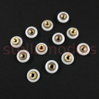 3DP-P021 19mm Dia.*5.25mm V-Roller Wheel w/M6 Thread Shaft  (12pcs) for Mini Kossel 3D Printer