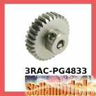 3RAC-PG4833 48 Pitch Pinion Gear 33T (7075 w/ Hard Coating)