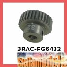 3RAC-PG6432 64 Pitch Pinion Gear 32T (7075 w/ Hard Coating)