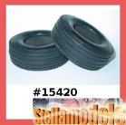 #15420 Rubber Tires for Tractor Truck - Wide with inserts  (1Pr.)