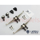 #Leaf spring & mount set (1-Pair) for Tamiya 1/14 Tractor Trucks front non-driven axle (X-8012) [LESU]