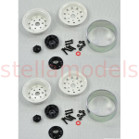 "1.9"" Steel Beadlock Wheels (White, 1Pr.) (97400045)"