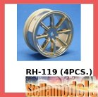 RH-119 8 Spoke Nylon Wheel (Gold, 24mm)