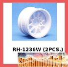RH-1236W Mini 10 Spoke Wheel (Wide Offset, White) (2PCS.)