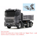 56357 Mercedes-Benz Arocs 3348 6x4 Tipper Truck + 56545 Electric Actuator Set [TAMIYA]