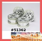 51362 M-Chassis 18-Spoke Wheels 4pcs. (Silver)