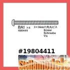 19804411 (BA1) 3x36mm Screw (10PCS.) for #42167 TRF201