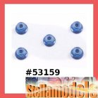 53159 4mm Anodized Alum Flange Lock Nuts (Blue, 5 pcs.)