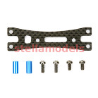 54375 RM-01 Carbon Motor Mount Rear Plate Set