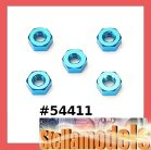 54411 3mm Aluminum Nut (Blue)