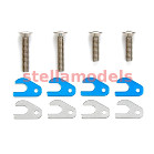 54456 RM-01 Front Skid Angle Spacer Set (w/4mm Titanium Screws)