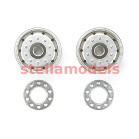 56520 Metal-Plated Wheels (30mm Width / Matte Finish) (2PCS.)