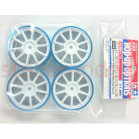 84248 Medium-Narrow 10-Spoke Wheels (White & Blue Rims/±0) 4PCS.