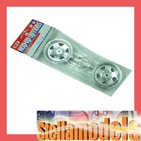 0445516 Tamiya 1/10 Pajero Metaltop Wide Wheel Set 2pcs