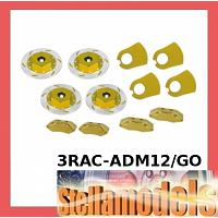 3RAC-ADM12/GO Realistic Brake Disk Set - Gold for M Chassis