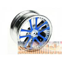 #WH-02/BU 1/10 5 DUAL SPOKE RIM (0º, 24mm) BLUE 4PCS