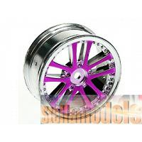 #WH-02/PU 1/10 5 DUAL SPOKE RIM (0º, 24mm) PURPLE 4PCS