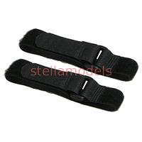 3RAC-BB02/BL Long Battery Straps (27cm) - Black