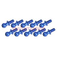 3RAC-BS4806/BU Aluminum 4.8mm Ball Stud L=6 (10 pcs) - Blue