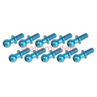 3RAC-BS4806/LB Aluminum 4.8mm Ball Stud L=6 (10 pcs) - Light Blue