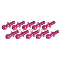 3RAC-BS4806/PK Aluminum 4.8MM Ball Stud L=6 (10 pcs) - Pink