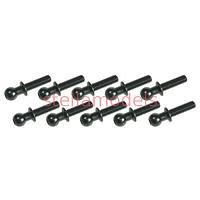 3RAC-BS4810/BL 4.8mm Ball Stud L=10 (10 pcs) - Black
