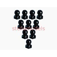 3RAC-BS48H5/BL 4.8mm Hex Ball Stud L=5 (10 pcs) - Black