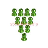 3RAC-BS48H5/GR 4.8mm Hex Ball Stud L=5 (10 pcs) - Green