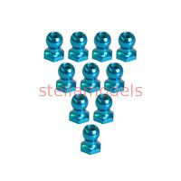 3RAC-BS48H5/LB 4.8mm Hex Ball Stud L=5 (10 pcs) - Light Blue