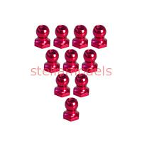 3RAC-BS48H5/RE 4.8mm Hex Ball Stud L=5 (10 pcs) - Red