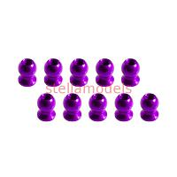 3RAC-BS58H5/PU 5.8mm Hex Ball Stud L=5 (10 pcs) - Purple