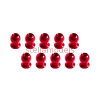 3RAC-BS58H5/RE 5.8mm Hex Ball Stud L=5 (10 pcs) - Red