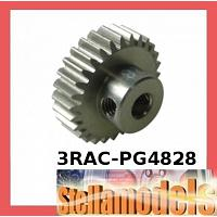 3RAC-PG4828 48 Pitch Pinion Gear 28T (7075 w/ Hard Coating)