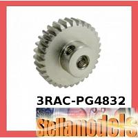 3RAC-PG4832 48 Pitch Pinion Gear 32T (7075 w/ Hard Coating)