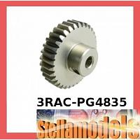 3RAC-PG4835 48 Pitch Pinion Gear 35T (7075 w/ Hard Coating)