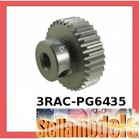3RAC-PG6435 64 Pitch Pinion Gear 35T (7075 w/ Hard Coating)