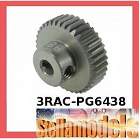 3RAC-PG6438 64 Pitch Pinion Gear 38T (7075 w/ Hard Coating)