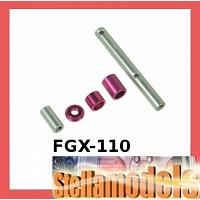 FGX-110 Gear Box Shaft Set For 3racing Sakura FGX