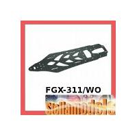 FGX-311/WO Graphite Main Chassis For 3racing Sakura FGX