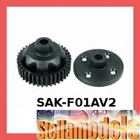 SAK-F01A/V2 Gear Differential Plastic Replacement - Ver. 2 For #SAK-F01