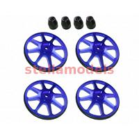 ST-001/V2/BU Setup Wheels (4 Pcs) - Ver. 2 - Blue