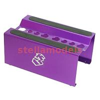 ST-12/PU Aluminium Setting Stand for 1/8 EP / GP - Purple