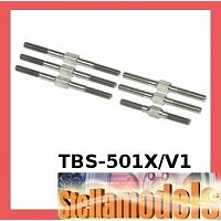 TBS-501X/V1 Titanium Turnbuckle Set for TRF501X