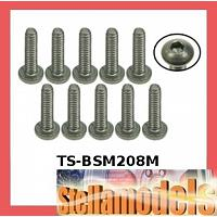 TS-BSM208M M2 x 8 Titanium Button Head Hex Socket - Machine (10 Pcs)