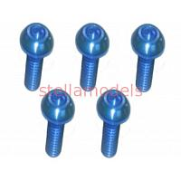 TS-BSM308AL/LB M3 x 8 AL7075 Button Head Hex Socket - Machine (5 Pcs) Light Blue