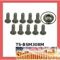 TS-BSM308M M3 x 8 Titanium Button Head Hex Socket - Machine (10Pc)