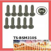 TS-BSM310S M3 x 10 Titanium Button Head Hex Socket - Self Tapping (10 Pcs)